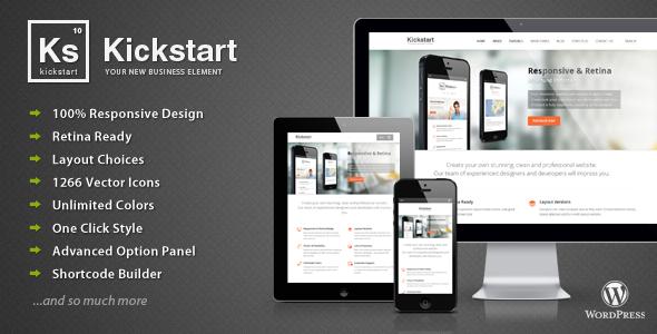 Kickstart 自适应多用途 WordPress主题v2.6.5