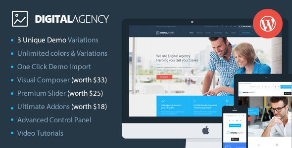 Digital Agency SEO数码 wordpress主题 v2.1.1