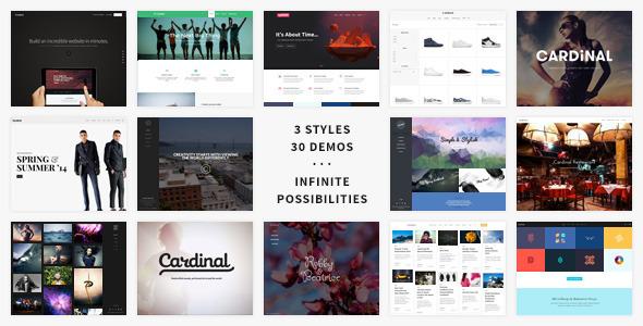 Cardinal 扁平时尚创意 WordPress主题 v2.5.51