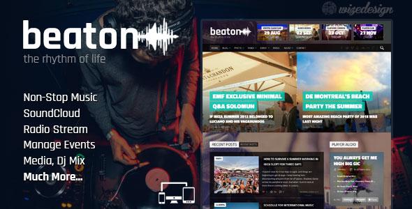 Beaton 音乐 WordPress主题 v1.4.1