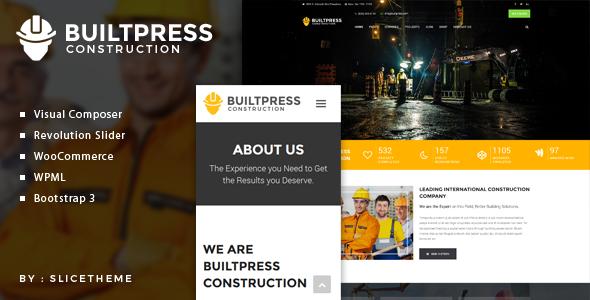 BUILTPRESS 建筑工程公司 WordPress主题