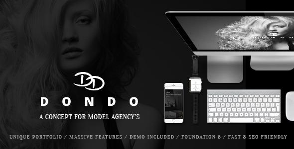 DONDO 模特演艺机构 WordPress主题v1.7.4