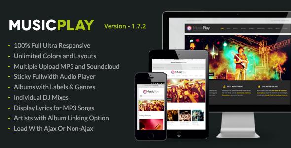 MusicPlay 音乐DJ WordPress主题[v4.4]