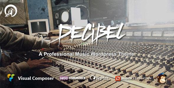 Decibel 音乐 WordPress主题 v2.0.3