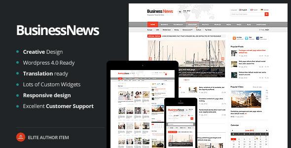 Business News 新闻杂志 WordPress主题