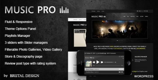 Music Pro 音乐 WordPress主题[更新至v3.3.1]