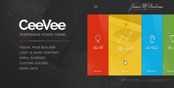 CeeVee 个人简历 WordPress主题 v1.0.10