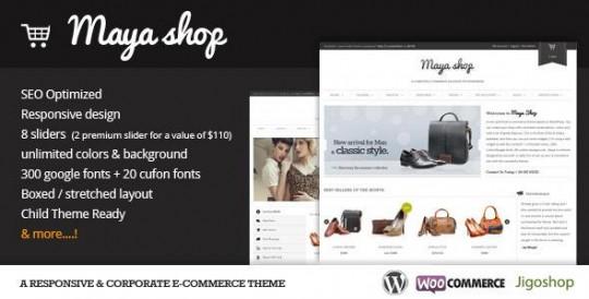 MayaShop 强大的购物 WordPress主题[更新至 v2.9.4]