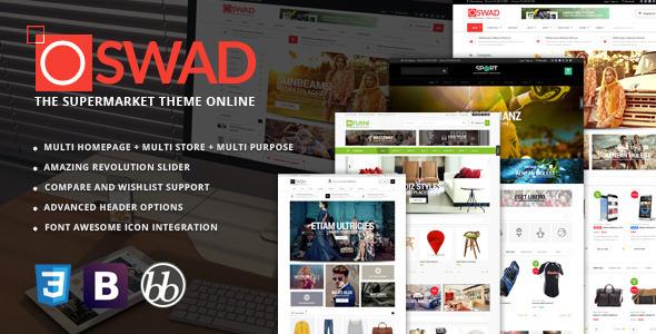 Oswad 超级时尚在线购物 WooCommerce主题 v1.2.3