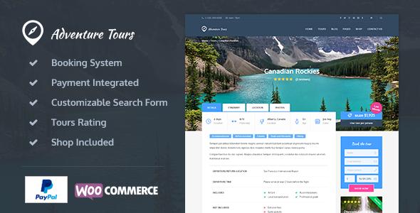 Adventure Tours 旅游 WordPress主题 v2.2.2