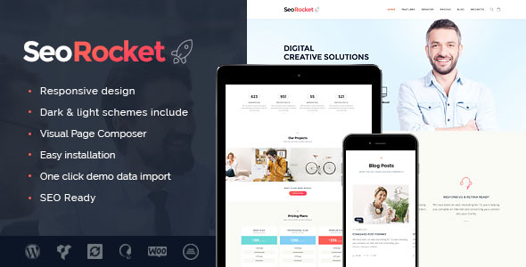 Seo Rocket SEO营销 WordPress主题 v1.0.1