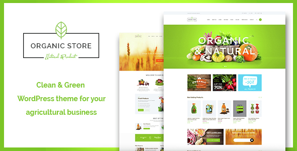 Organic Store 原生绿色保健美食农果 WordPress主题