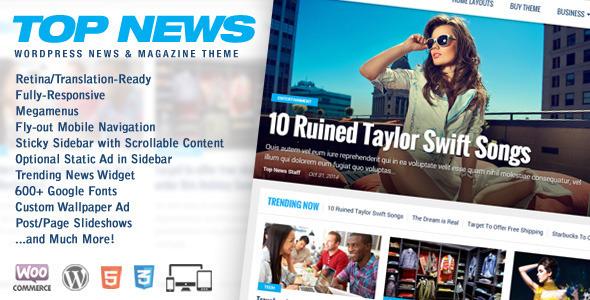 Top News 新闻杂志 WordPress主题 v2.0.2