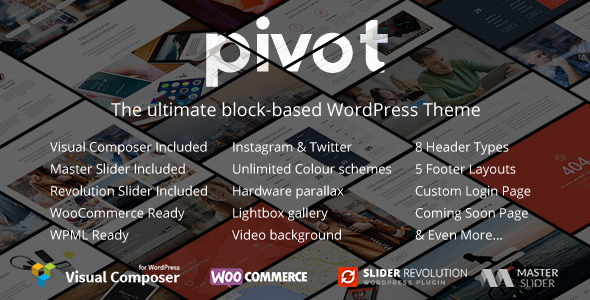 Pivot 多用途 WordPress主题 v1.4.15