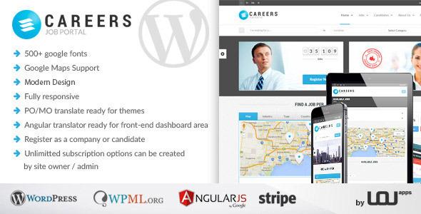 Careers 求职招聘  WordPress主题 v1.0.1