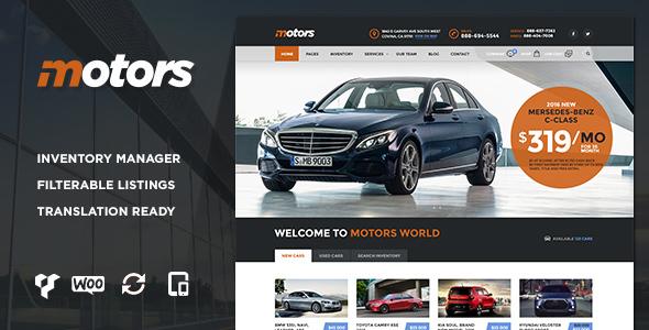 Motors 汽车租售 WordPress主题 v2.2
