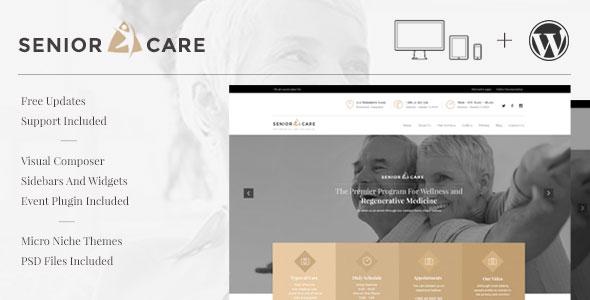 Senior 医疗健康卫生 WordPress主题 v1.2