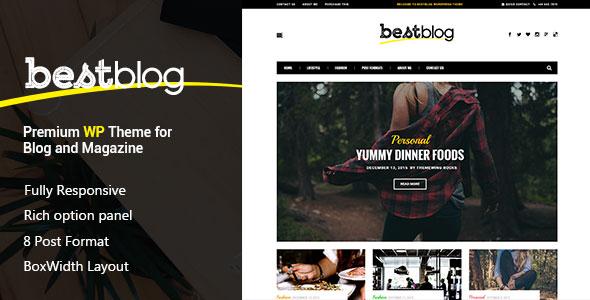 BestBlog 博客 WordPress主题