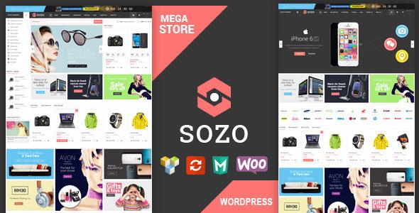 SOZO 全屏大型购物商城 WooCommerce WordPress主题 v1.3