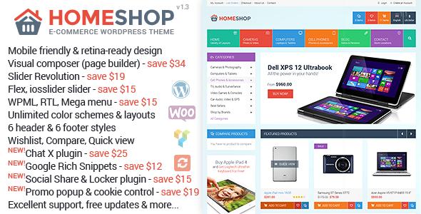 Home Shop WooCommerce购物商城 WordPress主题 v1.3