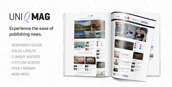 UniqMag 新闻杂志 WordPress主题 v1.0.2