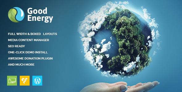 Good Energy 绿色节能再生能源 WordPress主题 v1.2.2