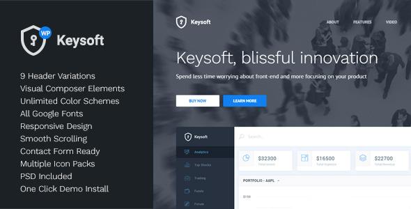 KeySoft 软件着陆页 WordPress主题