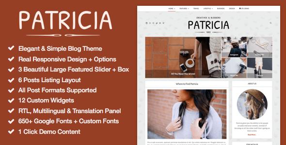 Patricia 博客 WordPress主题 v1.1