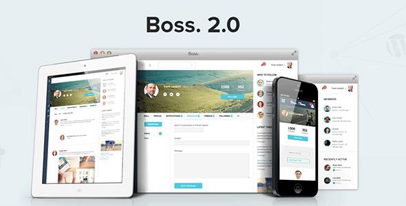 Boss 社区社交 WordPress/BuddyPress主题 v2.1.3