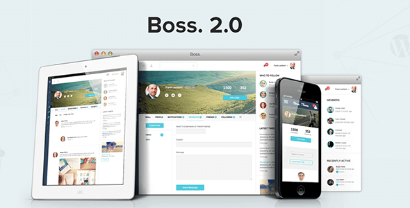 Boss 社区社交 WordPress/BuddyPress主题 v2.1.3