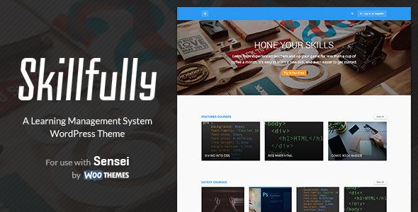 Skillfully 学习管理系统 WordPress主题 v1.1.2