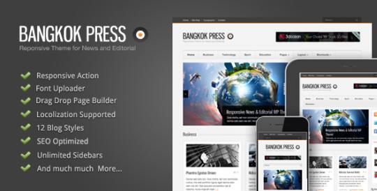 Bangkok Press 自适应&新闻&杂志 WordPress主题[更新至v1.1.5]