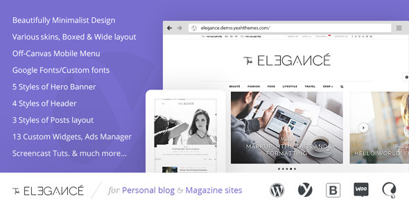 Elegance 极简博客 WordPress主题 v1.0.1.8