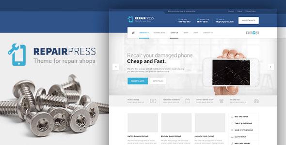 RepairPress 维修 WordPress主题 v1.3