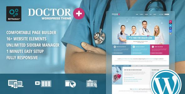 Doctor+ 医疗健康 WordPress主题 v1.1.8