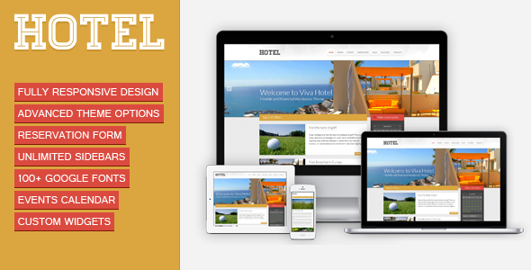 Viva Hotel 酒店 WordPress主题 v1.9