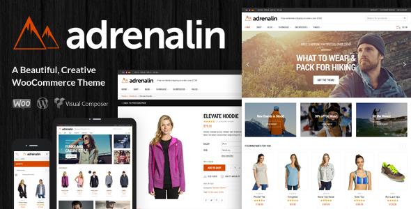 Adrenalin 购物商城 WordPress主题 v1.9
