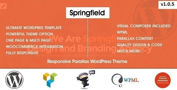 Springfield 视差 WordPress主题 v1.1