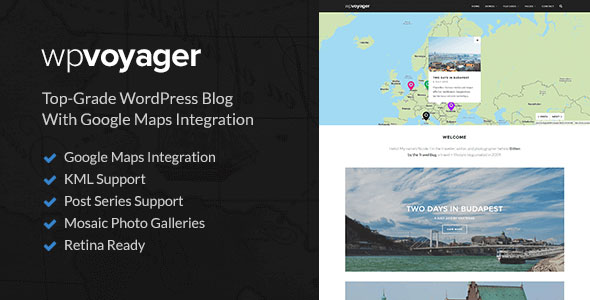 WPVoyager 旅游博客 WordPress主题 v1.0.6