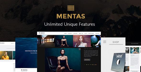 Mentas 创意作品展示 WordPress主题 v1.0.7