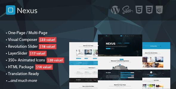 Nexus 单页多页商务 WordPress主题 v1.8