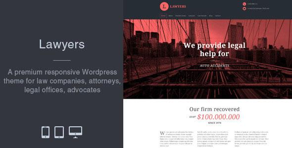 Lawyers 自适应律师事务所 WordPress主题 v1.5