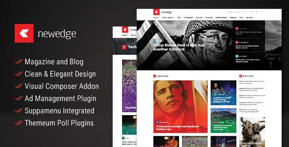 NewEdge 新闻杂志博客 WordPress主题 v1.4