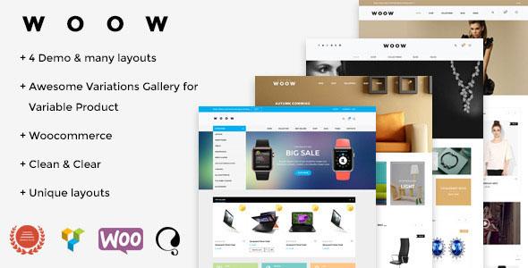 WOOW 购物商城 WooCommerce WP主题v1.1.2