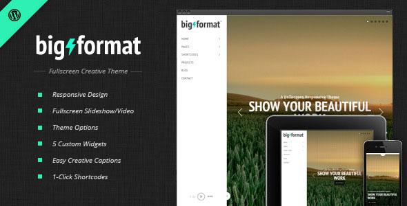 BigFormat 全屏摄影作品展示 WordPress主题 v1.4.2