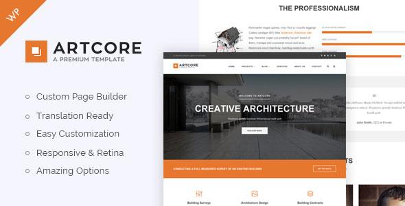Artcore 建筑工程 WordPress主题 v1.2