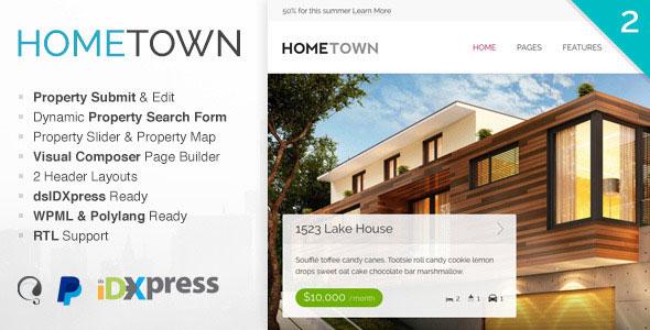 Hometown 地产置业租售 WordPress主题 v2.3