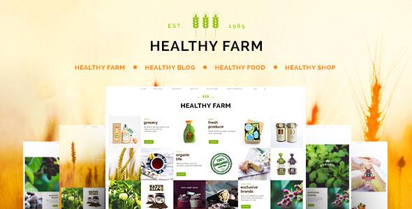 Healthy Farm 绿色有机食品&农产品 WordPress主题 v1.8