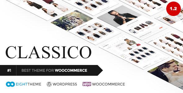 Classico 自适应WooCommerce购物商城 WordPress主题 v1.2