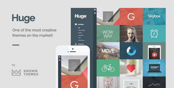 Huge 3D创意设计作品展示 WordPress主题 v1.6.2